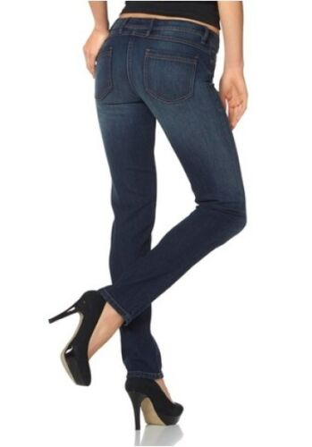 Arizona Röhrenjeans Gr.36,38,40,42,44 Damen Hose Stretch Blau Used Denim L32