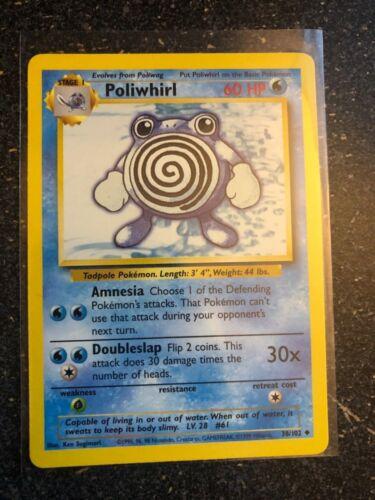 Poliwhirl 1999 Unlimited 38//102 Near Mint Base Set Uncommon Pokemon Card