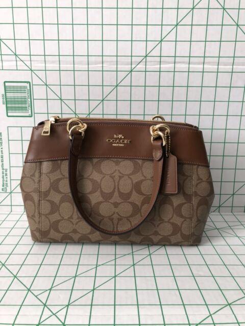 efa0f3c0c013 50% off coach 26139 mini brooke carryall satchel signature handbag purse  2018 saddle f24bc da79c