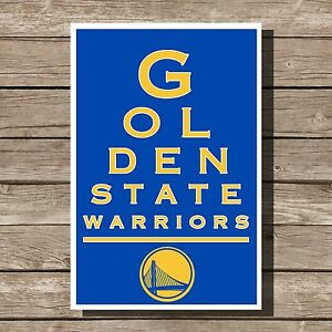 golden state warriors poster nba basketball art print 12x16 ebay