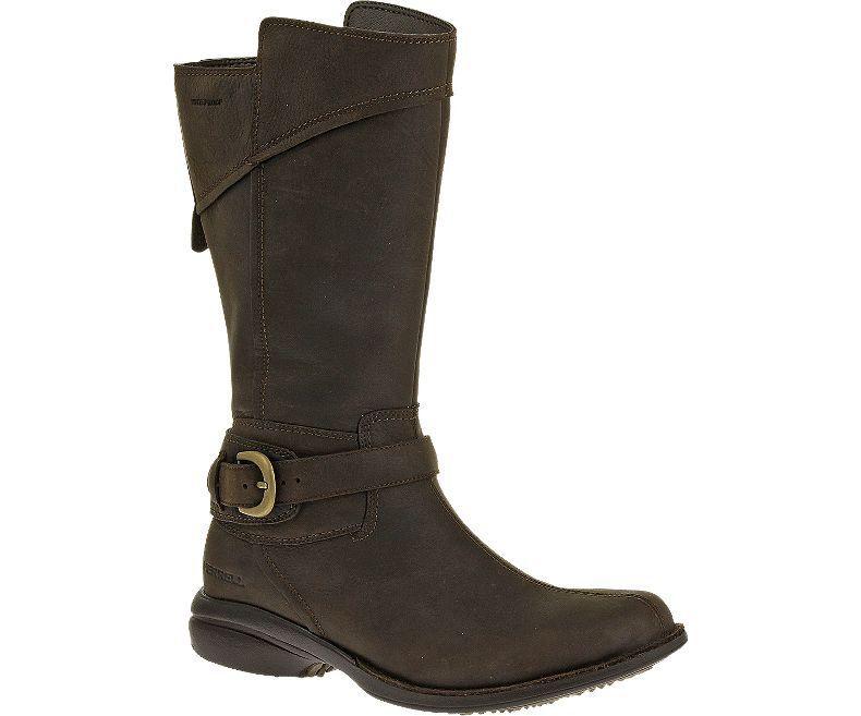 Merrell Captiva Buckle-Down Waterproof Stiefel Größe 5 braun Expresso J69128