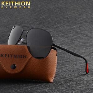 KEITHION-Men-039-s-Retro-Polarized-Metal-Sunglasses-Glasses-Driving-Fishing-Eyewear