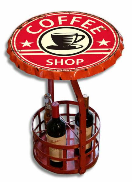 Discreto Tavolino Bar Porta Birra Liquori Industrial Ferro Rosso Non-Stireria