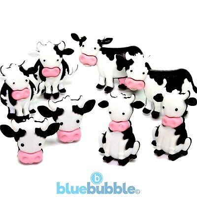 FUNKY COWS Craft Button 1ST CLASS P/&P Novelty Animal Dress It Up Baby Calf Farm