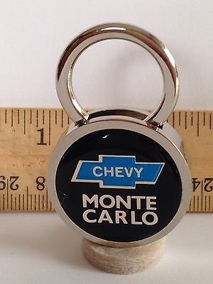 CHEVY MONTE CARLO SS AUTO LEATHER KEY CHAIN RING FOB NEW #181