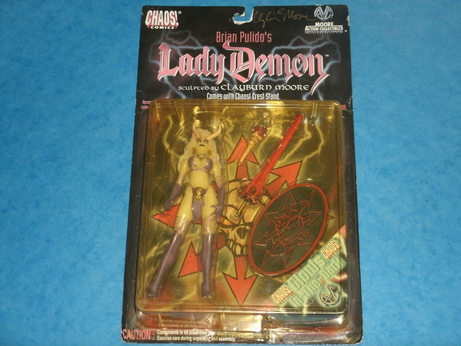 Chaos Comics  Brian Pulido's LADY DEMON 'Signed By Clayburn Moore' Action Figure