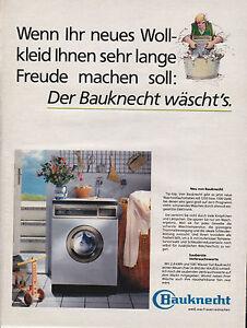 BAUKNECHT-LAVE-LINGE-PUBLICITE-PRESSE-PAPER-ADVERT-1988-ALLEMAGNE