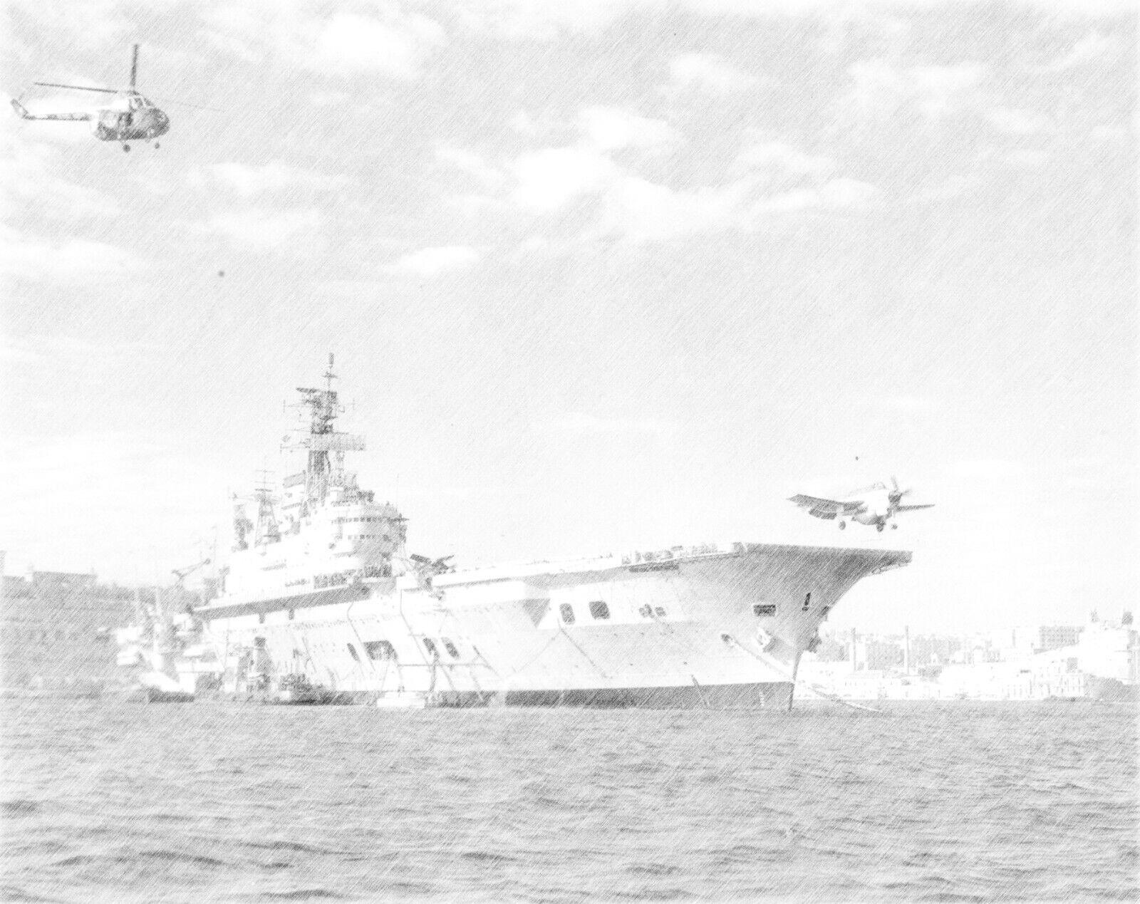 Aircraft Carrier HMS ARK ROYAL   Pencil Print
