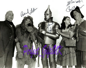WIZARD-OF-OZ-1939-SIGNED-AUTOGRAPHED-Re-Print-Photo-Jack-Haley-Bert-Lahr-Judy