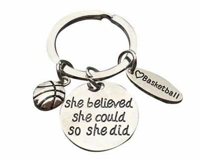 Snowboarding She Believed She Could So She Did Keychain Snowboarding Gift