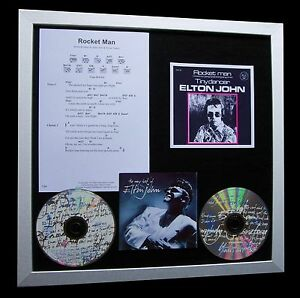 ELTON-JOHN-Rocket-Man-LTD-CD-GALLERY-QUALITY-FRAMED-DISPLAY-EXPRESS-GLOBAL-SHIP