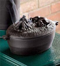 Cast Iron Dog Wood Stove Steamer Humidifier Kettle Pot Vintage Moisture, Black