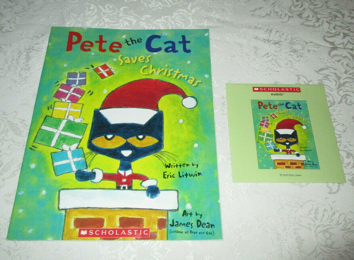 Pete The Cat Saves Christmas Paperback Audio Cd Set By Eric Litwin For Sale Online Ebay