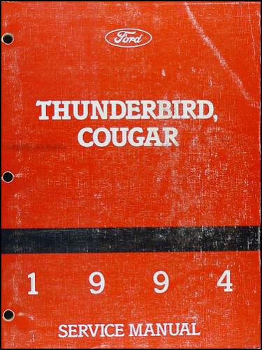 1994 Thunderbird Cougar Shop Manual Ford T Bird Mercury Repair Service Book OEM