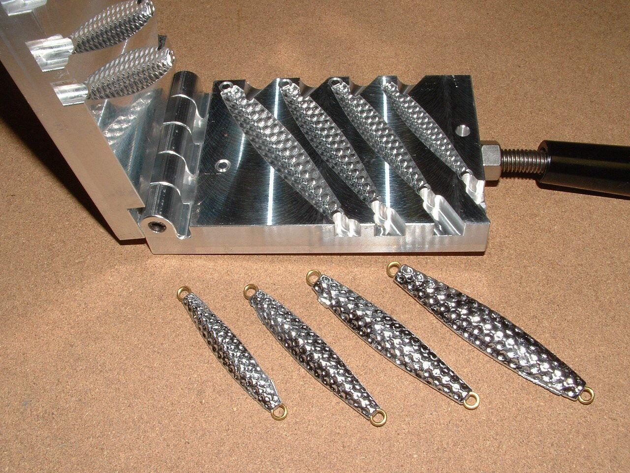 Saltwater D Jig-3 Bumpy Moule 1 2,3 4,1,1.5oz CNC Aluminium Diamond