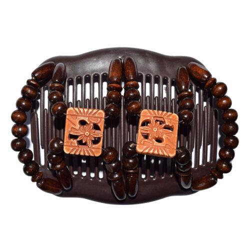 Women Magic Beads Stretch Double Hair Comb Clip Hairpin Headwear Accessories
