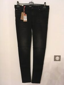 donna Skinny 6820 W29l34 Us Worn Black Lc117 Taille Jeans Noir 40fr Lee Cooper XwgqXd1