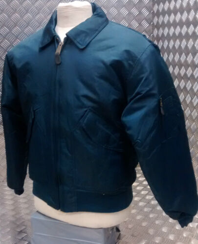 All Sizes NEW MA2 CWU US Military Style Bomber Jacket MOD//Scooter//Bikers Blue