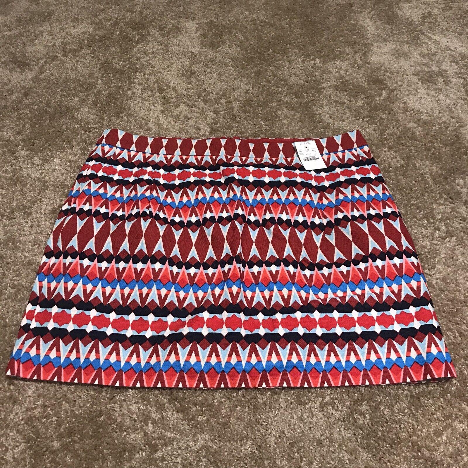 J.Crew Tribal Print Skirt SZ 14 NWT