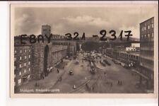 Stuttgart  1939 Hauptbahnhof Zeppelinbau  Straßenbahn!!