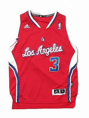 61fb8f87b29f Boy Youth Adidas Los Angeles Clippers  3 Chris Paul Basketball Jersey M Sewn