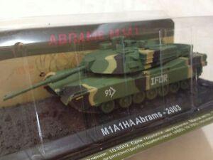 Carro-Armato-M1A1HA-Abrams-IFOR-2003-Scala-1-72-Die-Cast-RunSun-Nuovo