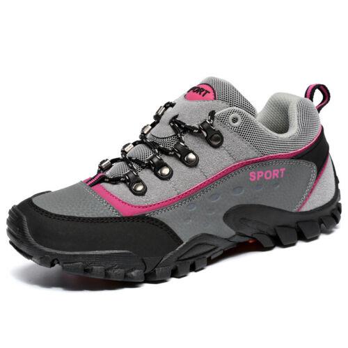 Mens Womens Outdoor Suede Boots Non-slip Hiking Climbing Work Shoes Trekking Hot