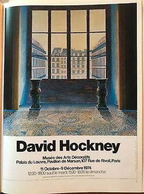 "Repro.14/""x10/"" HB4//77 David Hockney Paris Review 1981 Mini Poster Pop Art Auth"