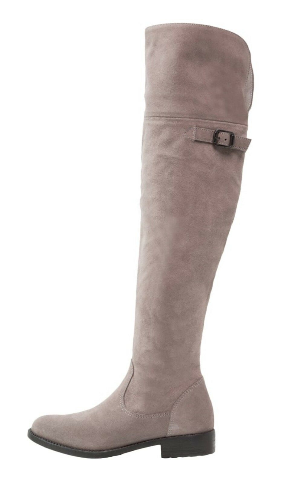 Modischer Stiefel Tamaris Damen, Grau, Leder, Overknees
