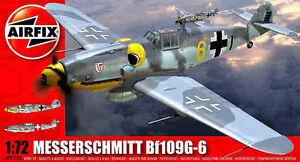 Caza-aleman-Messerschmitt-Bf-109G-6-nuevas-calcas-de-AIRFIX-a-escala-1-72