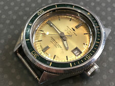 Vintage Jaquet Droz Diver Wristwatch Caribbean 3300 feet 1000 meters Oversize