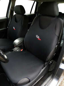 2 SCHWARZ FRONT WESTE T-SHIRT Auto Sitzbezüge Schutz FÜR Opel Mokka
