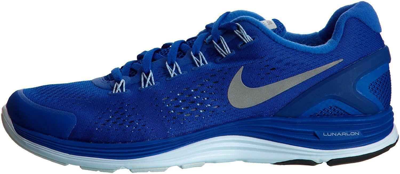 Nike lunarglide + 4 Shield nuevo running jogging zapatos gr 42 maratón azul azul