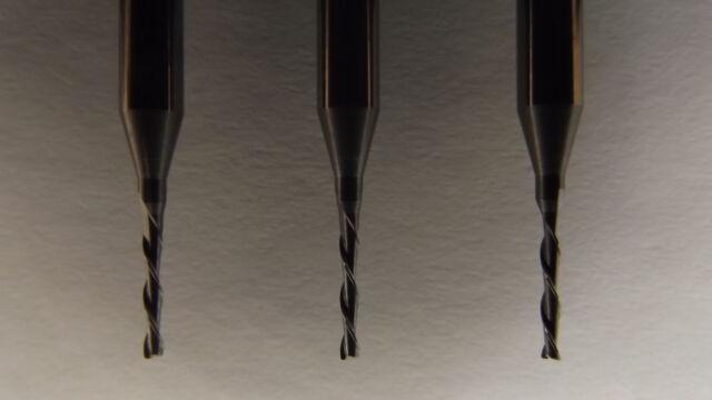 10  VHM  2-Schneider + Fräser + 1,0 mm links+ Modellbau + Dremel + Proxxon + CNC