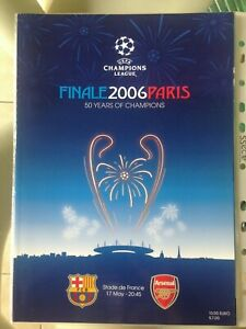 2006 uefa champions league final barcelona v arsenal ebay ebay
