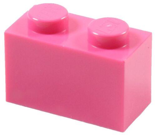 BULK Parts Building Girl Friends ☀️100x NEW LEGO 1x2 DARK PINK Bricks ID 3004