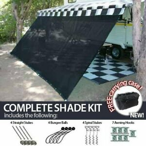 RV Camper Trailer Awning Sun Shade Complete Kit Patio ...