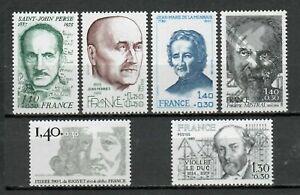 s25267-FRANCE-1980-MNH-Famous-people-6v