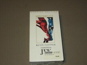 JFK - VHS 2 TAPES (Special Edition, Director's Cut) Kevin Costner Oliver Stone
