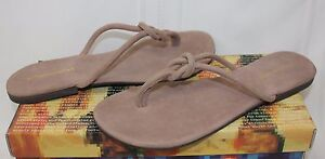 Jeffrey-Campbell-Malia-2-taupe-suede-knotted-slip-on-sandals-New-With-Box