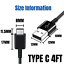miniature 6 - 5Pack USB C Cable 4ft Fast Charger Lot For Samsung S8 S9 S10 Android Type C Cord