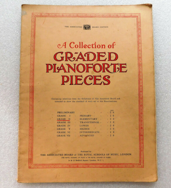 Graded Pianoforte Pieces Grade II Piano Exam practice music book vintage 1920s 2