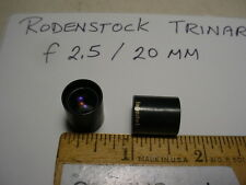 Rodenstock Trinar f2.5/20mm vintage lens NOS Lot of 2 pcs