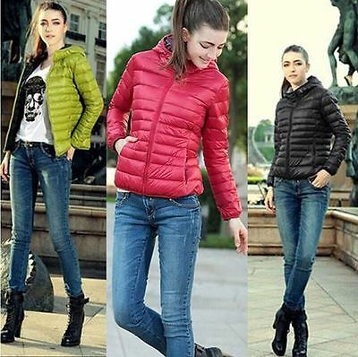 Autumn Winter Fashion Women Lady Outerwear Hooded Casual Solid Slim Jacket Coat