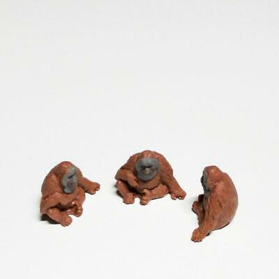 Doll House Shoppe Toy Orangutan Set//3 11884 Micro-mini Miniature