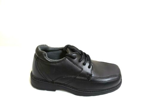 New Boy/'s YouthRoute 66 Jared Oxford Dress Casual Lace Up Shoes 92221 Black 8O