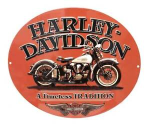 Harley-Davidson-Embossed-Timeless-Vintage-Motorcycle-Tin-Sign-Orange-2010781