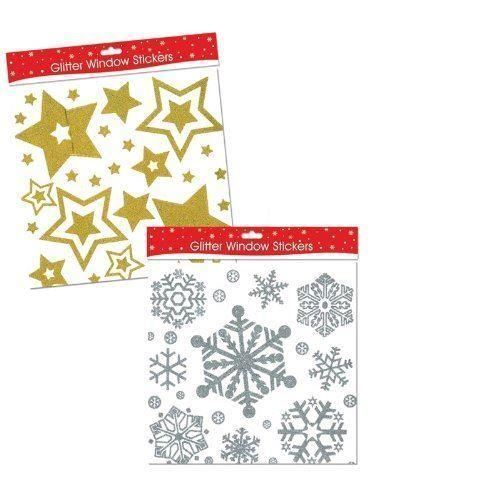 Silver Glitter Window Sticker Reusable Snowflake Cling Frozen Decoration Decal
