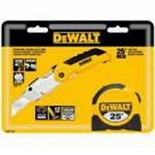 Dewalt Folding Utility Knife and 25' measuring tape combo dwht71800
