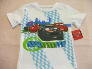 NEW Boys Disney Cars T Shirt Top Size 12 Month Lightning Mcqueen Race Grand Prix